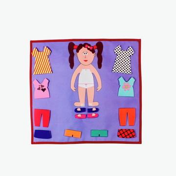 Painel Troca Roupinha - Menina - Brinquedo Educativo