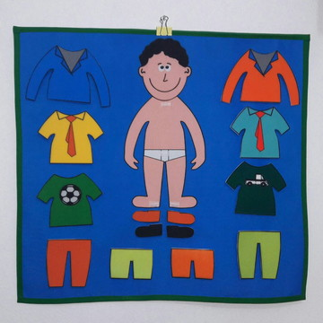 Painel Troca Roupinha - Menino - Brinquedo Educativo