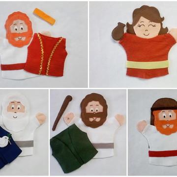 Kit com 5 Fantoches - Personagens Bíblicos