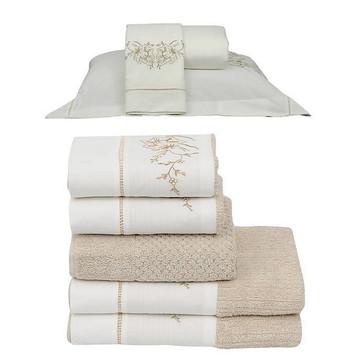 b94d5525a5 Roupa de cama e toalha de banho Suíte Queen 250 fios Jardim