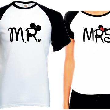 Camiseta Raglan Dia Dos Namorados Senhor E Senhora Mr Mrs