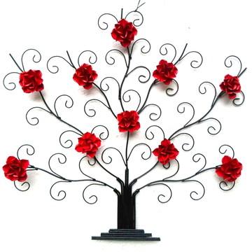 Quadro Decoração Sala De Estar Árvore Com Flores Em Ferro