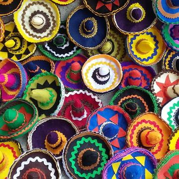 Chapéu mexicano em feltro