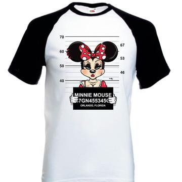 Camiseta Raglan Manga Curta Minie