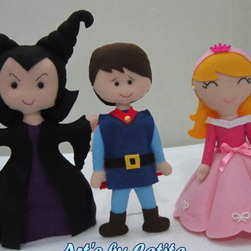 Kit Princesa Aurora, Príncipe Phillip e Malévola