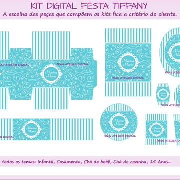 Kit Digital Festa Azul Tiffany