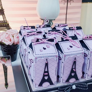 caixa milk personalizada no tema Paris