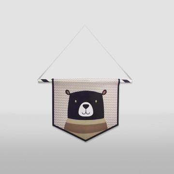 Flâmula bandeirinha urso