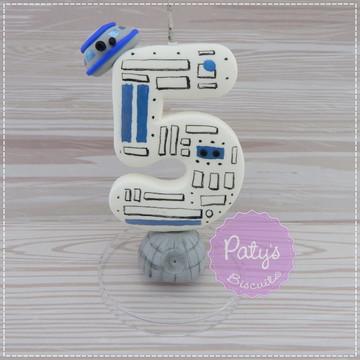 Vela decorada R2-D2 - Star Wars