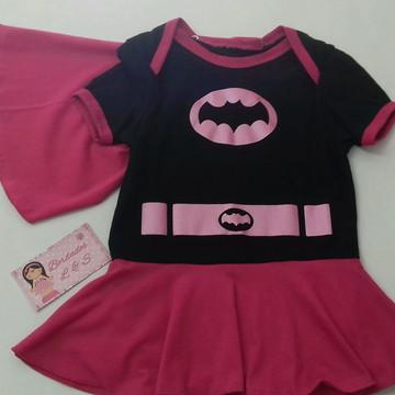 Body batgirl fantasia bebê
