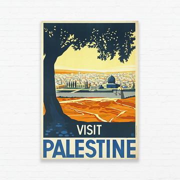 Quadrinho 19x27 Vintage Poster - Palestina