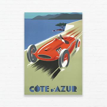 Quadrinho 19x27 Vintage Poster - Côte d'Azur