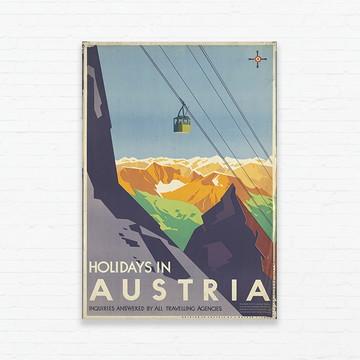 Quadrinho 19x27 Vintage Poster - Áustria II