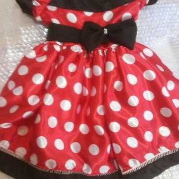 vestido temático Minnie vermelho