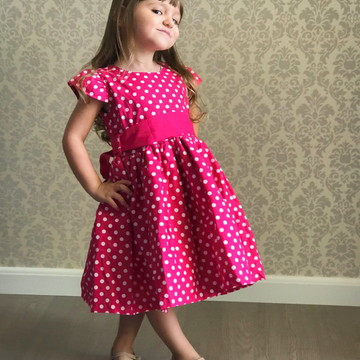 Vestido Infantil Festa Minnie Pink