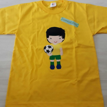 4df4084a0 Camiseta Copa do Mundo Brasil Personalizada Feminina Azul