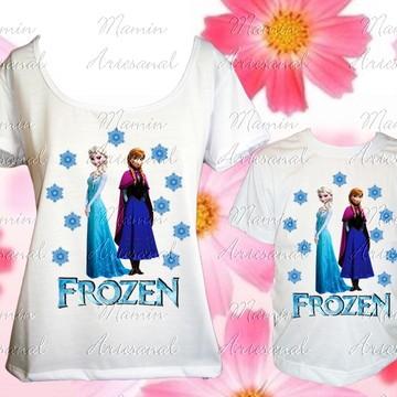 59ad107387 Kit 2 Batas Ou Camisetas Divertidas Frozen