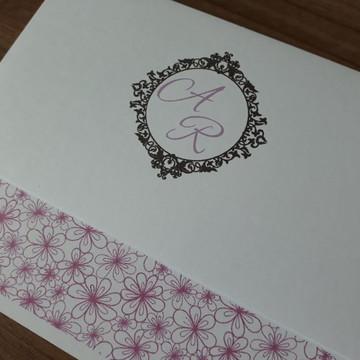Convite de Casamento Violeta lilás Barato