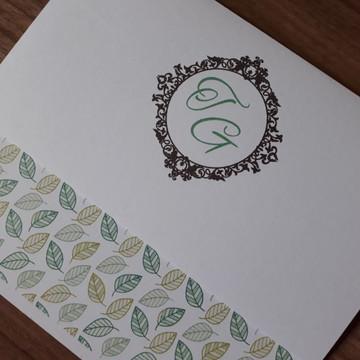 Convite de Casamento Verde Barato