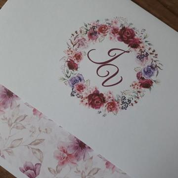 Convite de Casamento Barato Violeta