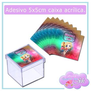 Adesivo Caixa Acrílica - Arlequina