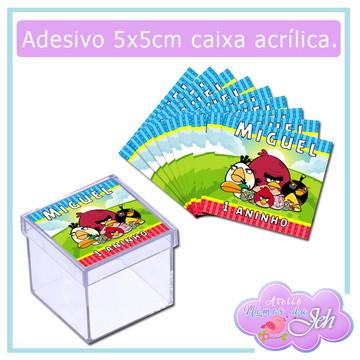 Adesivo Caixa Acrílica - Angry Birds