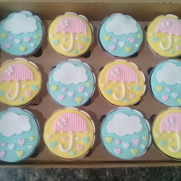 Cupcakes - Chuva de Amor