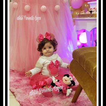 Conjunto Collant Mãe e Filha tema Minnie Pink