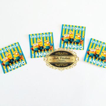 Adesivo 5x5 para caixinha acrílica Minions