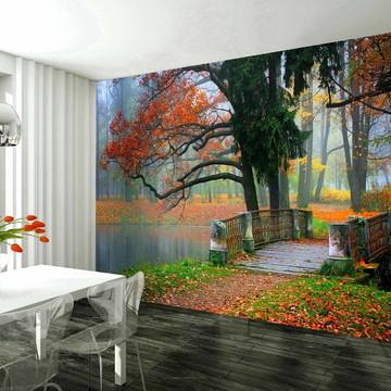 papel de parede adesivo floresta