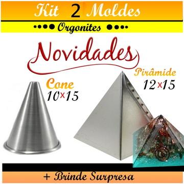 NOVIDADE CONE 10X15 + PIRÂMIDE 12X15- ORGONITE.