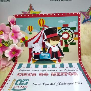 convite 3d Circo