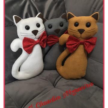 Gatos para decoração em feltro