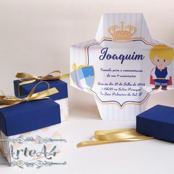 Convite Caixa Infantil Príncipe