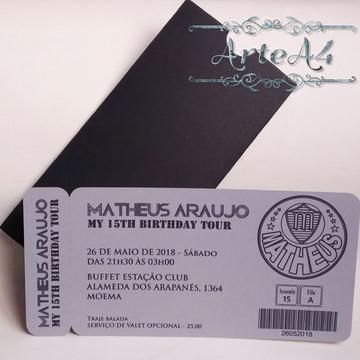 Convite Ticket Futebol