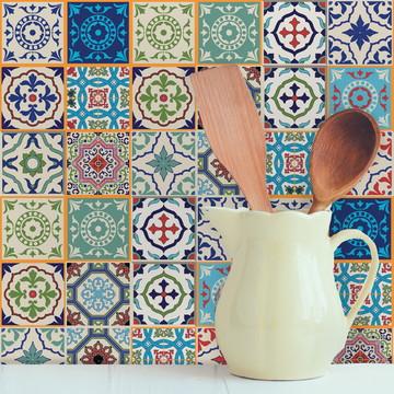 Adesivo Azulejo Cozinha 15x15 36un Santa Cruz
