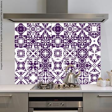 Adesivo Azulejo Cozinha 15x15 36un Roxo Távora