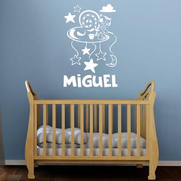 Adesivo Decorativo quarto bebê - Gatinho