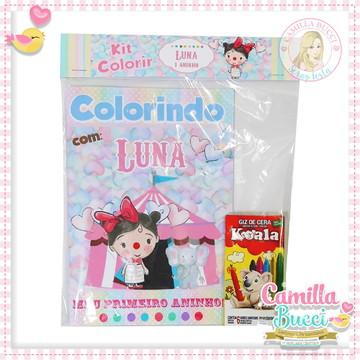 Kit Colorir Circo Menina