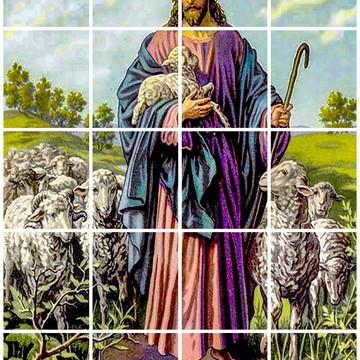 MOSAICO - JESUS BOM PASTOR- 60X75 CM