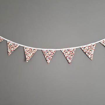 Bandeirinhas de tecido triângulos multicoloridos montessori