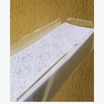 Caixa Acrílico - Toalheiro para lavabo e Toalha