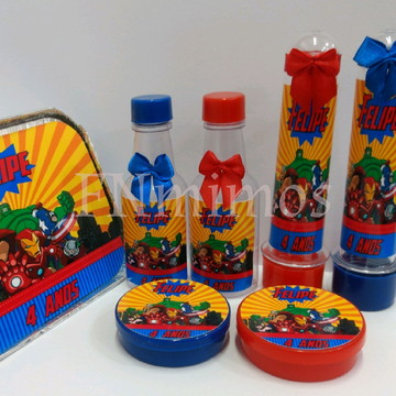 Kit Personalizado Vingadores 100 itens