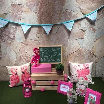 Locação de cabana Flamingo festa do pijama