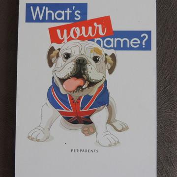 Placa Decorativa Tipo Quadro Tema Pet Parents Bulldog Inglês
