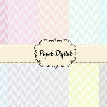 Papel Digital Kit - Tons Pastel
