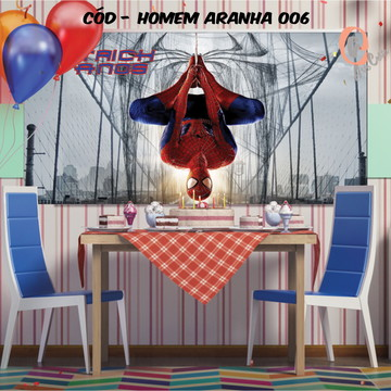 Painel festa decoração homem aranha