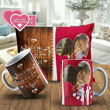 Kit almofada e caneca amor 15