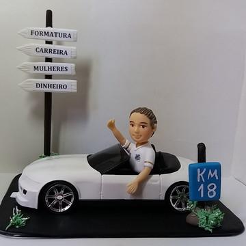Topo De Bolo 18 Anos com carro