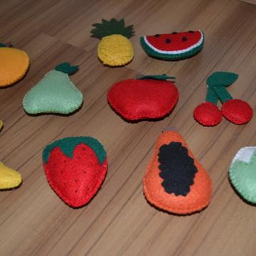 Frutinhas e verduras em feltro